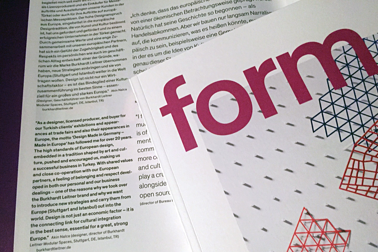 "​Form Magazine new issue focuses on ""meaning of design for Europe"""